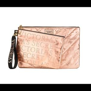 Victoria's Secret Rose-Gold Clutch & Pouch